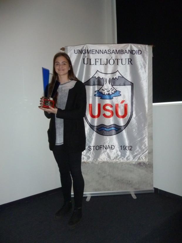 Maria Selma Haseta, íþróttamaður USÚ 2013. (Mynd: SÓJ)
