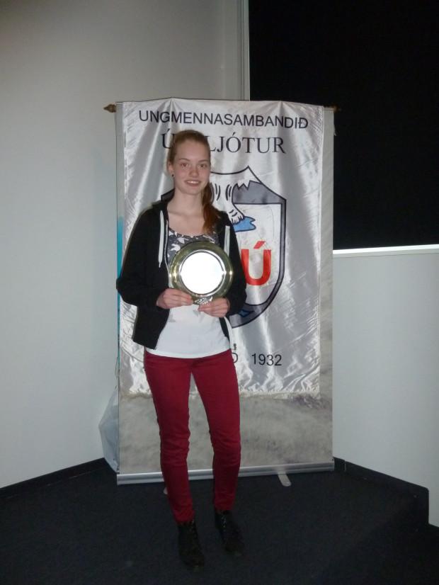 María Birkisdóttir hlaut Hvatningarverðlaun USÚ 2013. (Mynd: SÓJ)